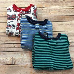 Set of 3 Carters 3T Lightweight Footie Boy Pajamas